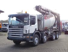 Scania 114-380 8x4 / Liebherr 9m³ + 12m Band