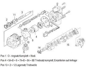 Kubota KX91-2A & 3 Hydraulikpumpe Überholsatz und