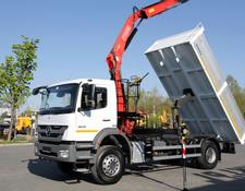 Mercedes-Benz AXOR 1829 ONLY 90,000km!!!!! Tipper + crane Fassi 130 / like new