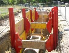 Double slide rail shoring Type 750